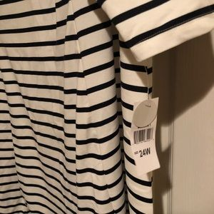 Studio One Dresses - Navy Stripped Dress